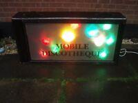 DISCO LIGHTS RETRO VINTAGE DISCO SCREEN , NICE EFFECT , ADD YOUR DISCO/CLUB/DJ NAME !!!