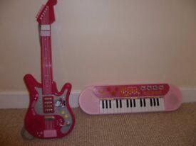 Childrens Keyboard & Guitar