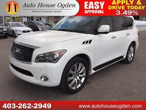 2011 INFINITI QX56 NAVIGATION BACKUP CAMERA DVD SCREENS THIRDROW