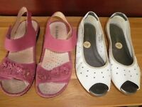 Ladies shoes/sandals and boots.