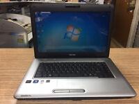 Toshiba Satellite L455D AMD 2.10GHz 3GB Ram 160GB HDD Webcam 15.6inch Win 7 Laptop