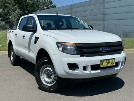 2014 Ford Ranger PX XL Double Cab 4x2 Hi-Rider White 6 Speed Sports Automatic Utility Blacktown Blacktown Area Preview