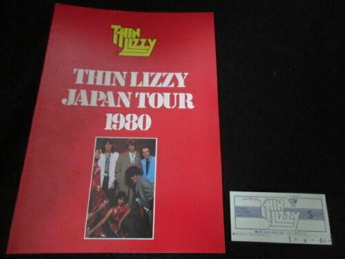 Thin Lizzy 1980 Japan Tour Book w Ticket Concert Program Phil Lynott Snowy Whit