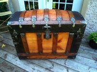 coffre malle trunk antique 1880's