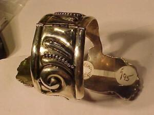 OFFERING 2 STERLING 925 CUFF BRACELETS Hallmarked-Taxco JC-SAJEN-Age unknown prices in pictures NOT SCRAP Sold as jewlry