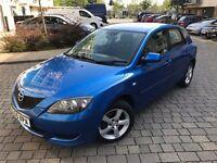 Mazda3 1.6 D TS2 Hatchback 5dr,2005, Hatchback,NEW MOT,3 OWNERS,FULL SERVICE HISTORY,2 KEYS