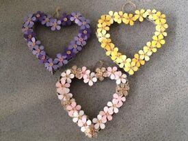 Decorative Wicker Hearts & Wind Chimes
