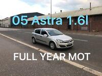£1175 2005 Vauxhall Astra 1.6l* like FOCUS MEGANE CIVIC GOLF MONDEO VECTRA PASSAT