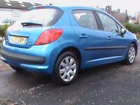 PEUGEOT 207 S 1.4 5 DR BLUE,1 YRS MOT,CLICK ON VIDEO LINK TO SEE CAR IN GREATER DETAIL