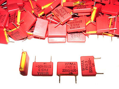 25pack 0.0022uf 2200pf 400v New Wima Fks3 Capacitors