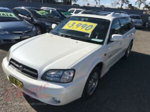 2000 Subaru Outback MY01 H6 Pearl White 4 Speed Automatic Wagon Lansvale Liverpool Area Preview