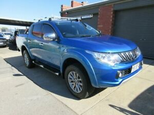 2015 Mitsubishi Triton MQ MY16 Exceed (4x4) Blue 5 Speed Automatic Dual Cab Utility Gilles Plains Port Adelaide Area Preview