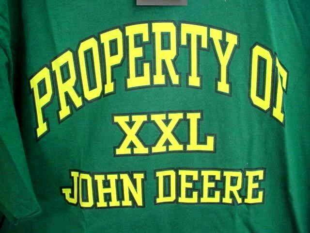 JOHN DEERE T-SHIRT - PROPERTY OF JOHN DEERE - SIZE LARGE - NEW