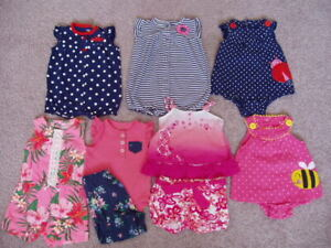 Baby Girl 9 Piece Spring/Summer Clothing Lot, Size 6 Months