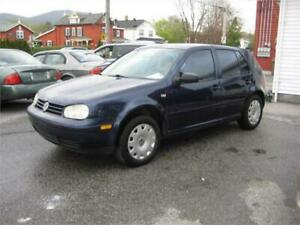 2001 VOLKSWAGEN GOLF, AUTOMATIQUE, 159 800 KM