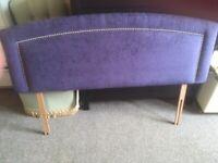 double headboard purple