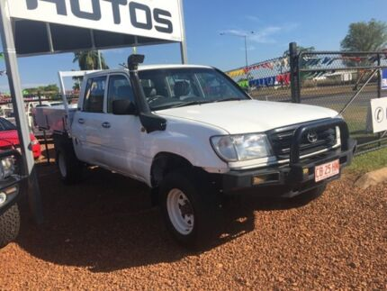 2002 Toyota Landcruiser 100 Series White 5 Speed Manual Dual Cab Hidden Valley Darwin City Preview