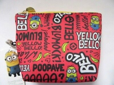 Despicable Me Minion Pouch Makeup Mini bag Pink Goods Real Cute Japan  #4 F/S