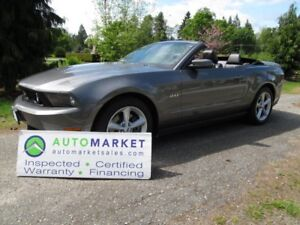 2011 Ford Mustang GT Convertible, AUTO, INSP, FREE WARR, FINANCE