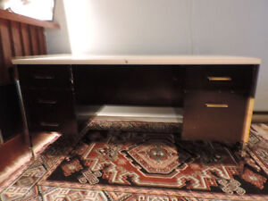 Free black and grey metal Office desk