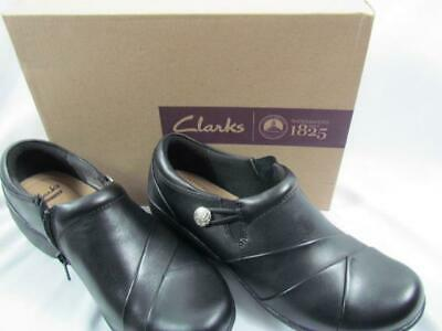 NIB Clarks of England Black Leather Comfort Walking Shoes 070M Channing Ann (Clarks England Comfort Shoes)