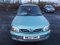 NISSAN MICRA 1.0 VIBE HATCHBACK 51 REG,, CHEAP TO RUN AND INSURE,, MOT APRIL 2018