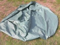 Large green outside furniture cover