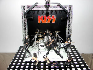 KISS Concert Stage Diorama with plastic case