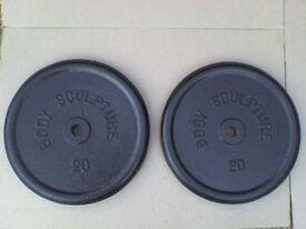 88 lb 40kg Metal Dumbbell Barbell Weights - Heathrow
