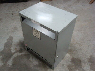 Used 34 Kva Dry Shielded Drive Isolation Transformer Hv 575 Delta Lv 230 Y 133