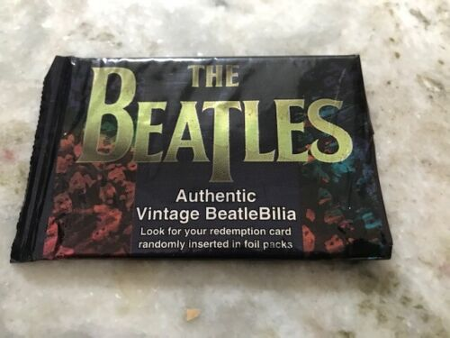 "Open pack Beatles cards ""Authentic BeatleBilia"" Sportstime 1996. #7 13 17 21 28"