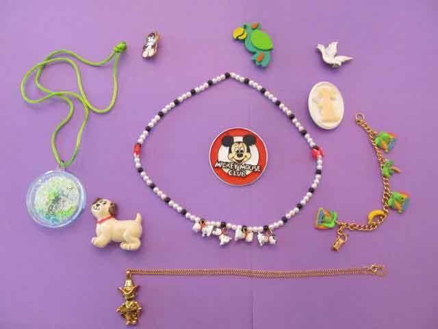 Lot Child Girl Jewelry for Dress Up Pretend Play Disney Necklace Bracelet & MORE