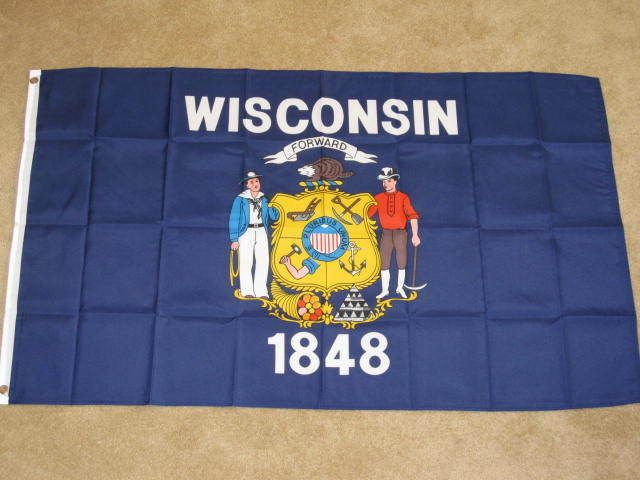 3X5 WISCONSIN STATE FLAG! WI FLAGS STATES NEW F279