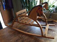 Vintage rocking horse chair