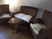 Wicker Conservatory furniture from Pier (4 piece)