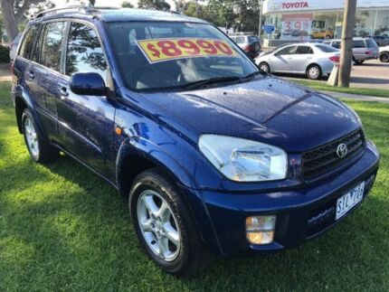 2002 Toyota RAV4 ACA21R Cruiser Blue 5 Speed Manual Wagon Upper Ferntree Gully Knox Area Preview