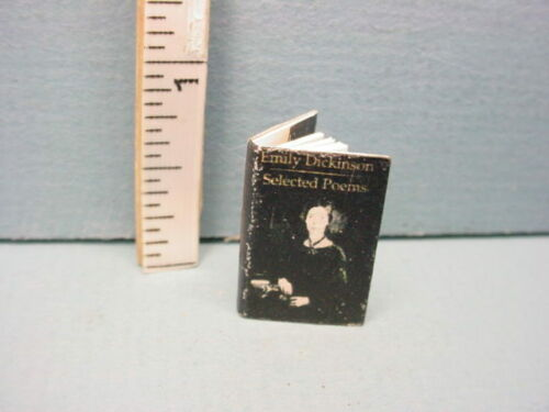 Miniature Printed Book #Tin2023 Emily Dickenson Selected Poems  1/12 Tiny Detail