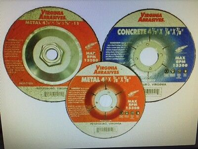 Depressed Center Grinding Wheel Concrete 4-12x 14 X 58-11 10 Per Pack