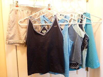 Lot of 6 Athletic Clothes Size Medium Large Shorts Tank EUC