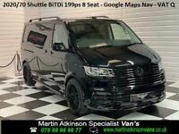 2020 70 VW Volkswagen Transporter Shuttle T6.1 BiTDi 199ps LWB DSG ~ Del Miles