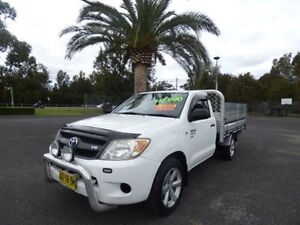 2006 Toyota Hilux GGN15R MY07 SR White 5 Speed Manual 2D CAB CHASSIS Cabramatta Fairfield Area Preview
