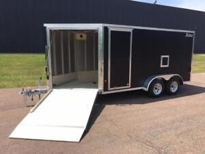 NEW 2019 XPRESS 7' x 19' IN-LINE ENCLOSED SNOW TRAILER