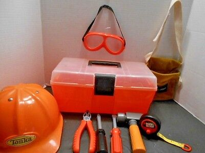 Tonka Black & Decker Construction Hat, Toolbox & Tools Play Set for Children - Play Construction Hats