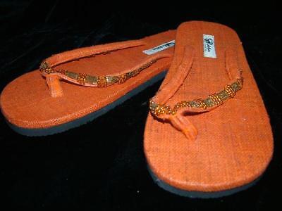 Flip Flops Shoes Sandals Woman Size 36 Ethnic 6