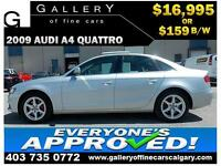2009 Audi A4 2.0T QUATTRO $159 bi-weekly APPLY NOW DRIVE NOW