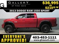 2013 DODGE RAM SPORT LIFTED *EVERYONE APPROVED* $0 DOWN $219/BW!