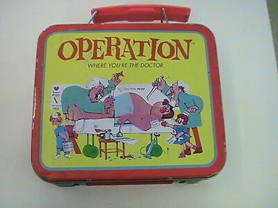 OPERATION MINI TIN LUNCHBOX NO THERMOS - 1997