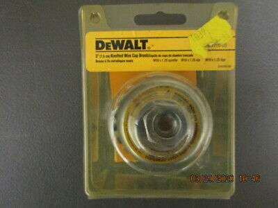 Tool 39 Dewalt 3 Knotted Wire Cup Brush For M10x1.25 Spindle New Old Stock
