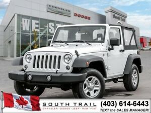 2016 Jeep Wrangler Sport 3.6 V6 Engine Manual 4X4 MIN $190 B/W!!