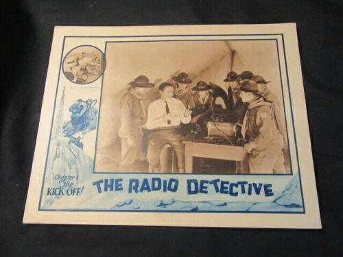 """The Radio Detective Chapter 1  """"The Kick Off"""" 1926 Poster"""